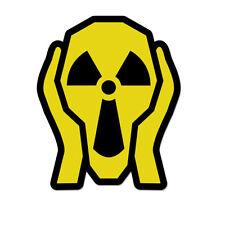 "Nuclear Scream Danger Hazard Cool Modern  Vinyl Car Sticker Decal 5"" x 3"""