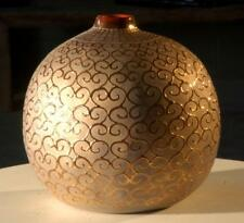 Orange squiggles vase