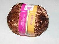 NEW CROWN INTERNATIONAL RAM Copper Brown Viscose Yarn 100 g