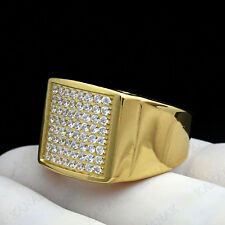 1.75 CT Round Cut Diamond 9k Yellow Gold Cluster Ring for Men's