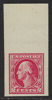 SCOTT 532 1920 2 CENT WASHINGTON ISSUE TOP MARGIN SINGLE MNH OG VF-XF CAT $75!