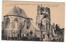 CARTE POSTALE LA GRANDE GUERRE 14 / 18 EGLISE EN RUINE ELVERDINGHE