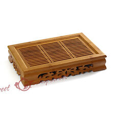 Tasteful Elegant Bamboo Chinese Gongfu Tea Table Serving tray & tank 37*26cm L01