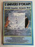 N65 Rivista Universo Okapi N°230 Ascoltare Jacques Brel , Uno Grande, , Poeta
