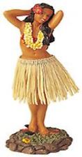 Dashboard Dance Hula Doll Hawaiian Girl Posing Skirt Bobble Aloha Tan Car Auto