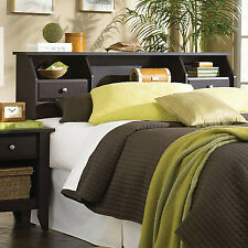 Headboard Full Queen Size Bed Bedroom Furniture Bookcase Storage Drawers Shelf