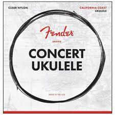 Fender Concert Ukulele Strings, Clear Nylon, .028, .0322, .0403, .028  Gauges