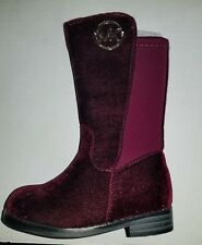 MICHAEL KORS EMMA LILY -T TODDLER/BABY PLUM (burgandy) SUEDE BOOTS GIRLS SIZE 7