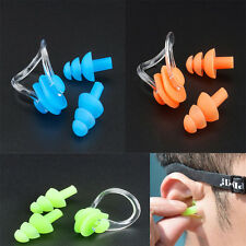 Hot Silicone Swimming Waterproof Nose Clip Set And Ear plugs With Box 3 Color