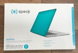 "NIB: Speck SeeThru Macbook Pro w/Retina Display 15"" hardshell case, teal"