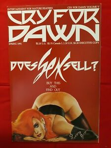 CRY FOR DAWN # 5 1991 1 ST PRINT SIGNED INSIDE FRONT COVER SCRATCH ON FRONT