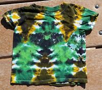 Tie Dye Youth T-Shirt XS Green Cheese Slalom Hanes Free Shipping 100% Cotton
