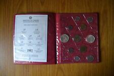 CONFEZIONE IPZS REPUBBLICA ITALIANA 11 MONETE 500 LIRE 1992 ARGENTO FDC