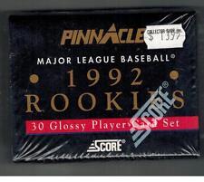 Pinnacle Major League Baseball 1992 Rookies 30 Glossy FACTORY Card Set NEW Score