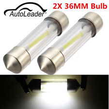 2pcs Festoon 36mm C5W LED Car Reading Map Dome License White Light Bulbs 6000K