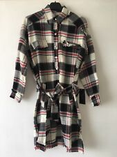 1e826a0a Zara Tunic Shirt Dress Tartan Check Long Sleeve Size Small BNWT