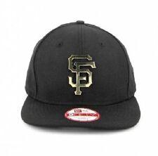 SF GIANTS New Era 9FIFTY Original Fit GOLD METAL Logo Snapback Hat Cap - BNWT