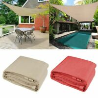 Sun Shade Sail Rectangle/Triangle UV Block Top Canopy Patio Pool Awning Covers