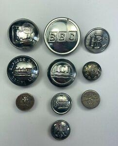 Assorted White Metal Company Vintage Uniform Buttons x 10  VM614
