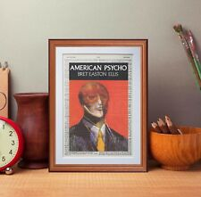 American Psycho dictionary page art print wall art print book cover