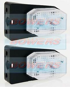 2 x WHITE CLEAR FRONT MARKER LIGHTS LAMPS FITS IFOR WILLIAMS BRIAN JAMES TRAILER