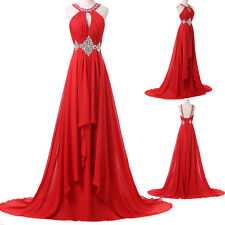 Sexy Plus Size Long Dress BEADED Prom Evening Gown Ball Party Bridesmaid Formal
