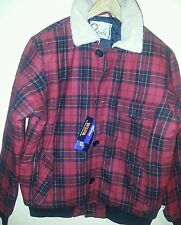 PENFIELD TRAILWEAR OUTDOOR JACKET/RED/BLACK/L/POLYESTER/WOOL/FULL ZIP/ BUTTONED
