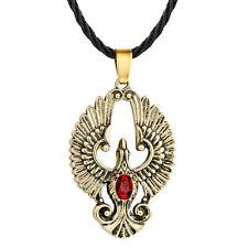 CZ Angel Wing Necklace Phoenix Bird Pendant Red CZ Eagle Necklace Unisex Jewelry