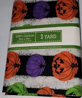 Pumpkin Neon Halloween Cotton Quilting Fabric David Textiles 1 yard Pack