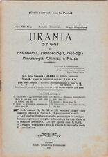 Urania, rivista, 1924, anno XIII n. 3, astronomia, mineralogia, chimica, fisica