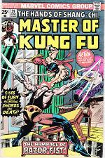 MASTER OF KUNG-FU 29 - 1st APP RAZOR-FIST (BRONZE AGE 1975) - 7.5