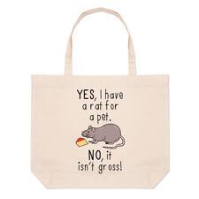 Sì, ho un ratto per un animale domestico non non è al lordo Grandi Da Spiaggia Tote Bag-Divertente