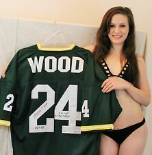 WILLIE WOOD signed LE of 5  jersey 3 Inscriptions GREEN BAY PACKERS HOFer