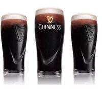 4 X Guinness Embossed Harp Pint Glasses 20oz Brand New 100% Genuine CE