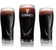 2 X Guinness Embossed Harp Pint Glases 20oz Brand New 100% Genuine CE