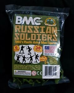 BMC 54MM RUSSIAN INFANTRY 36 FIGURES  BRAND NEW IN BAG,  NEVER BEEN OPENED.