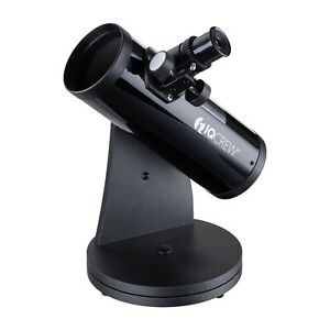IQCrew Tabletop Dobsonian Telescope with 15X to 100X Magnification