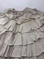 "Burlap Shimmer Creme Ruffled 50"" Christmas Tree Skirt VHC Brands NEW"