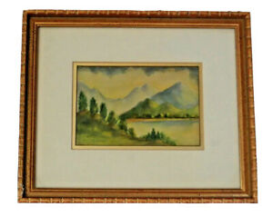ETHEL MOORE CAMPBELL Original SIGNED Watercolor Painting LISTED ARTIST ART DECO
