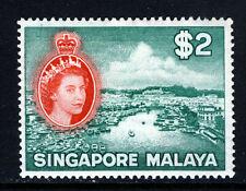 SINGAPORE Queen Elizabeth II 1955 $2 Singapore River Issue SG 51 MINT