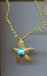 KENNETH LANE TURQUOISE STARFISH necklace