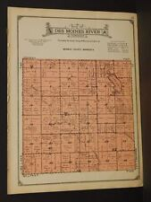 Minnesota Murray County Map Des Moines River Township 1926  W5#96