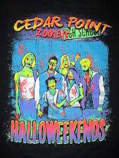 CEDAR POINT HALLOWEEKENDS T SHIRT Zombie High School Monster Clique Adult XL