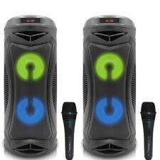 Qtd. (2) tpro Portátil Recarregável 500W Alto-falante Bluetooth Com Microfone Com Fio Dj
