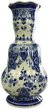 VASE RAM DELFT BLUE WHITE HAND-PAINTED FLOWERS FLORAL VINTAGE 1950 MID-CENTURY