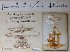 LEONARDO DA VINCI HELICOPTER 15th CENTURY WORKING RE-CREATION AERIAL SCREW.