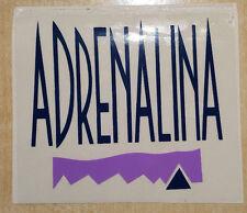 vintage adrenalina  sticker adesivo anni 80 deadstock tennis