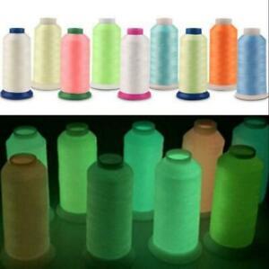 1000 Yards Spool Luminous Glow In The Dark Sewing Thread Machine Embroidery DIY