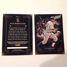 ALEX RODRIGUEZ #2 New York Yankees 2015 Panini Black Friday * FREE SHIPPING *
