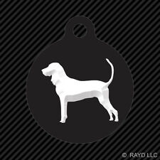 American Black and Tan Coonhound Keychain Round with Tab dog engraved canine pet